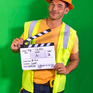 Behind the scenes construction worker sh