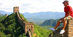 World Traveler Cody Easterbrook at the great wall, china