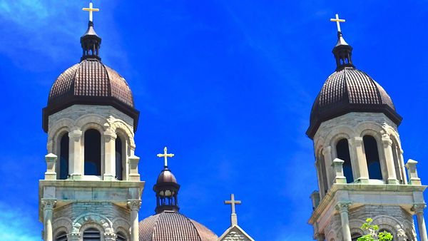 Basilica of Saint Adalbert, crosses, exterior, Giles Arts LLC, VFG Creations LLC