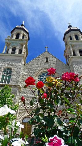 Basilica of Saint Adalbert, Grand Rapids, Michigan, USA, roses, VFG Creations LLC, Giles Arts LLC