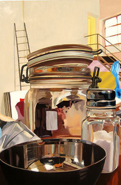 My Studio Through a Jar