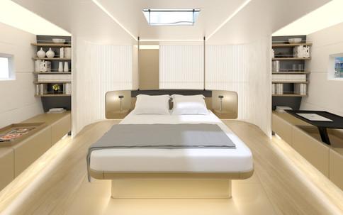 Superjacht master bedroom
