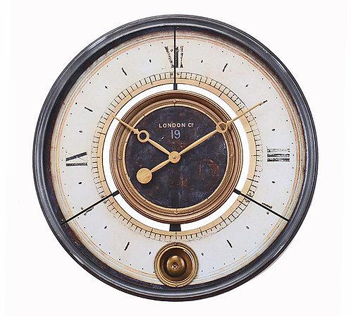 Μεταλλικό ρολόι τοίχου Vintage
