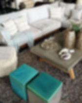 Γωνιακό σαλόνι αλλά και σετ τριθέσιο + διθέσιο σε ειδικές διαστάσεις και χρώματα. Πουφ, πολυθρόνεςκαι μπρεζέρες,τραπέζι σαλονιού.