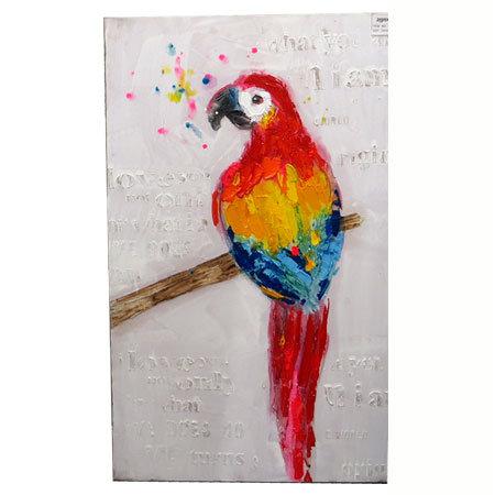 Διακοσμητικός πίνακας 'Παπαγάλος' 60x100