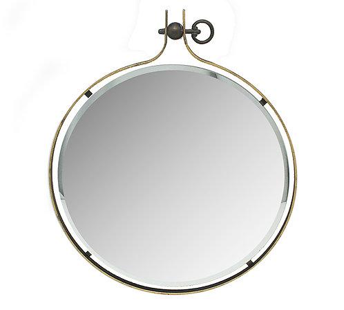 Μεταλλικός καθρέπτης μπιζουτέ (μεγάλος)