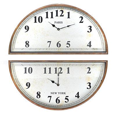 Επιτοίχιο μεταλλικό ρολόι