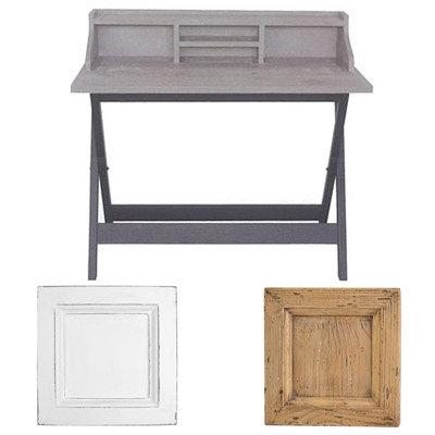 Γραφείο antique blanc sur gris 100x50