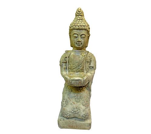 Πέτρινο κηροπήγιο βούδας