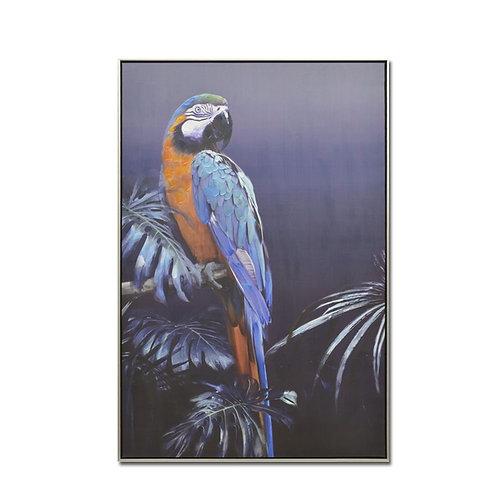 Πίνακας Blue Parrot 122x82