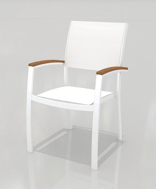 Πολυθρόνα αλουμινίου Italica λευκή