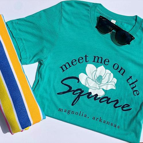 Meet Me on the Square T-Shirt (Aqua)