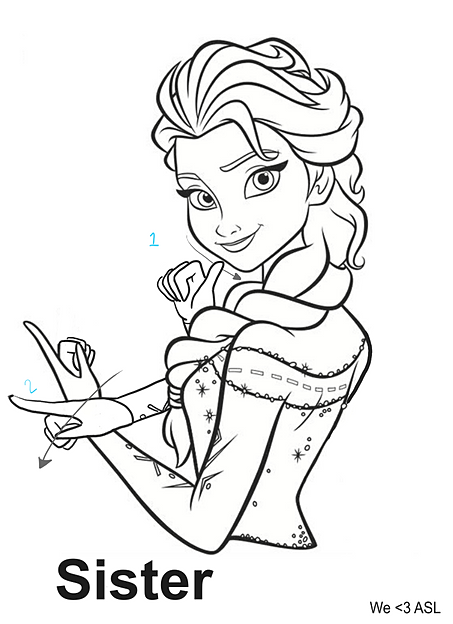 coloring pages for the deaf - photo#1