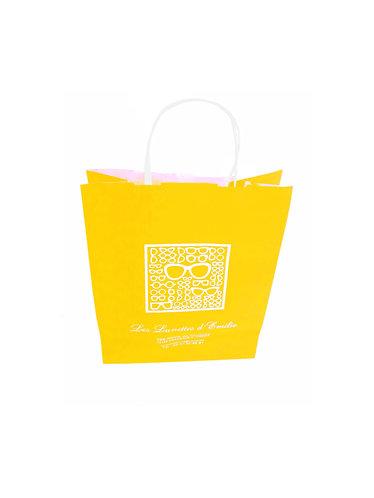 Lot de 1500 sacs papier kraft blanc lisse couleur, format 25X11X32 cm