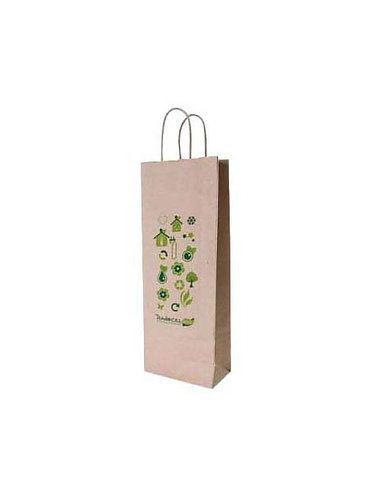 Lot de 1200 sacs en papier kraft  naturel,  format 16X8X39 cm