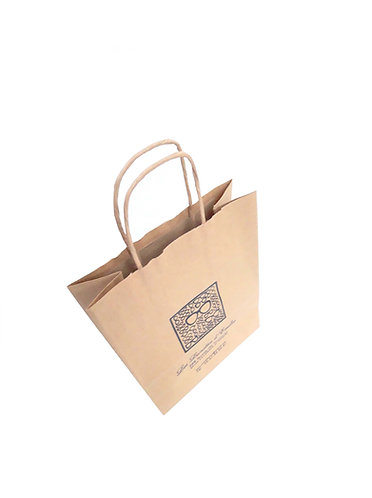 Lot de 1000 sacs en papier kraft naturel, format 18X8X21 cm
