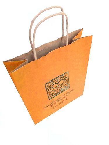 Lot de 500 sacs papier kraft brun lisse couleur, format 18X9X22 cm