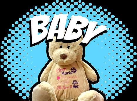 Teddy bear with branding