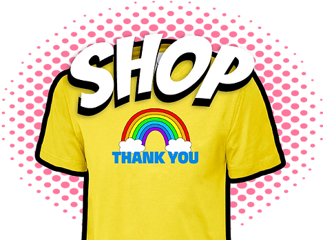 Yellow Thank You Rainbow t-shirt