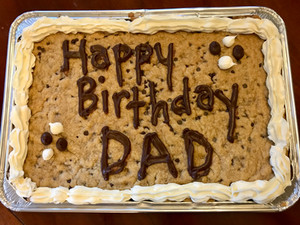 Chocolate Chip Cookie Cake: Dairy, Egg and Nut-Free