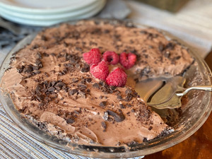Chocolate-Raspberry Ice Cream Pie... Gluten, Dairy, Egg and Nut-Free!