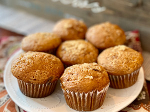 The BEST Pumpkin Chocolate Chunk Muffins Ever: Dairy, Egg, Nut and Gluten-Free!