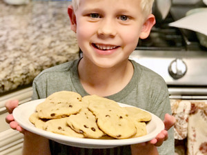 The BEST Back-To-School Pick Me Up... Chewy Dairy, Egg, Nut & Gluten-Free Chocolate Chip Cookies