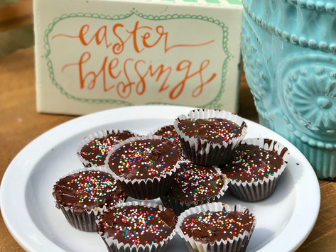 Easter Bunny... Forget the Reese's and Bring on the Top 8-Free Dark Chocolate Sunbutter Cups!