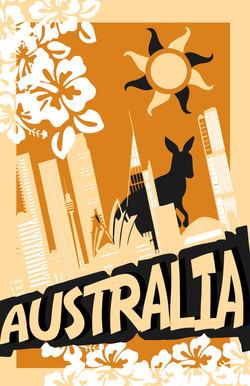 Australia Voyage Poster