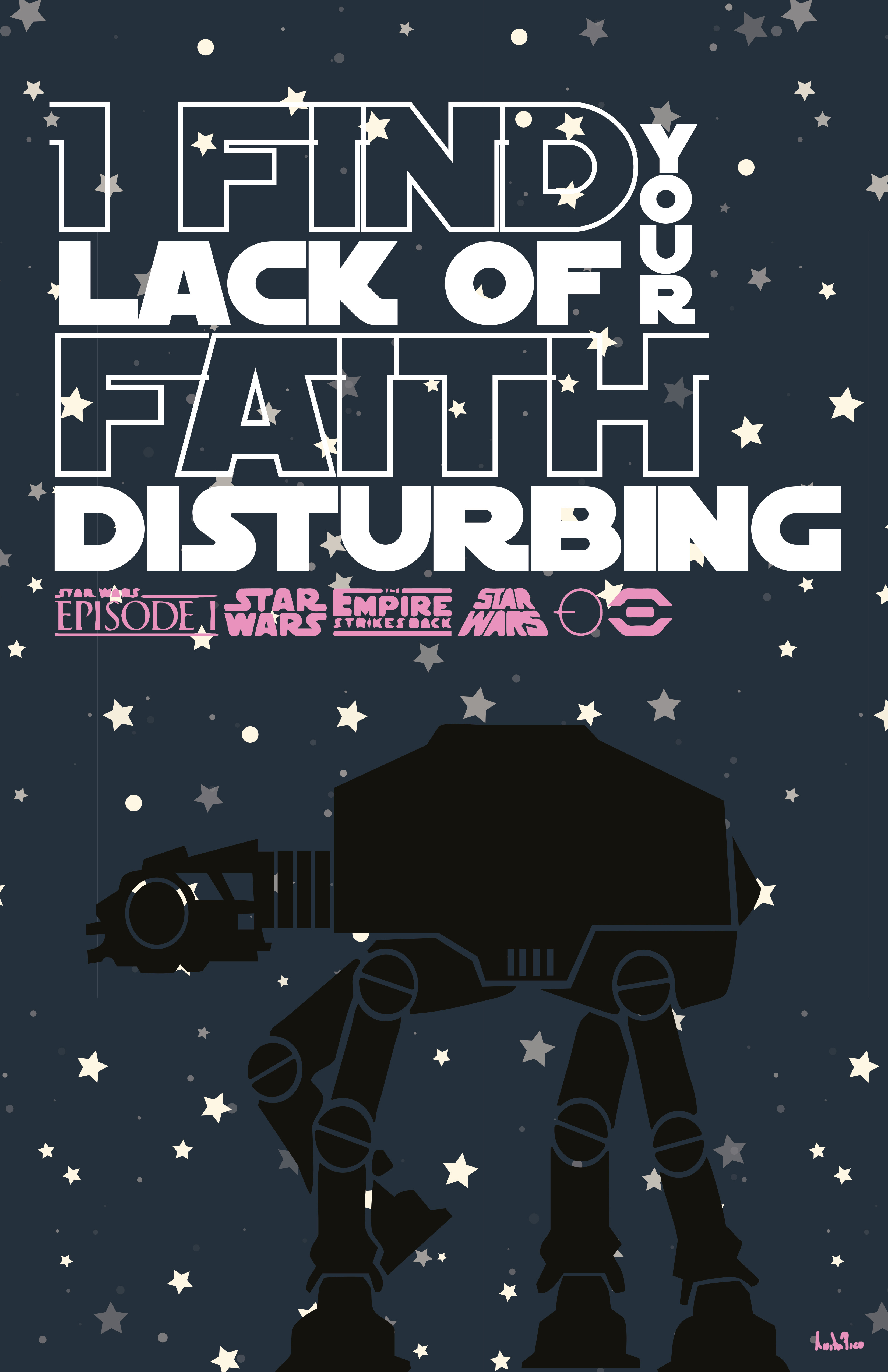 Lack or faith!