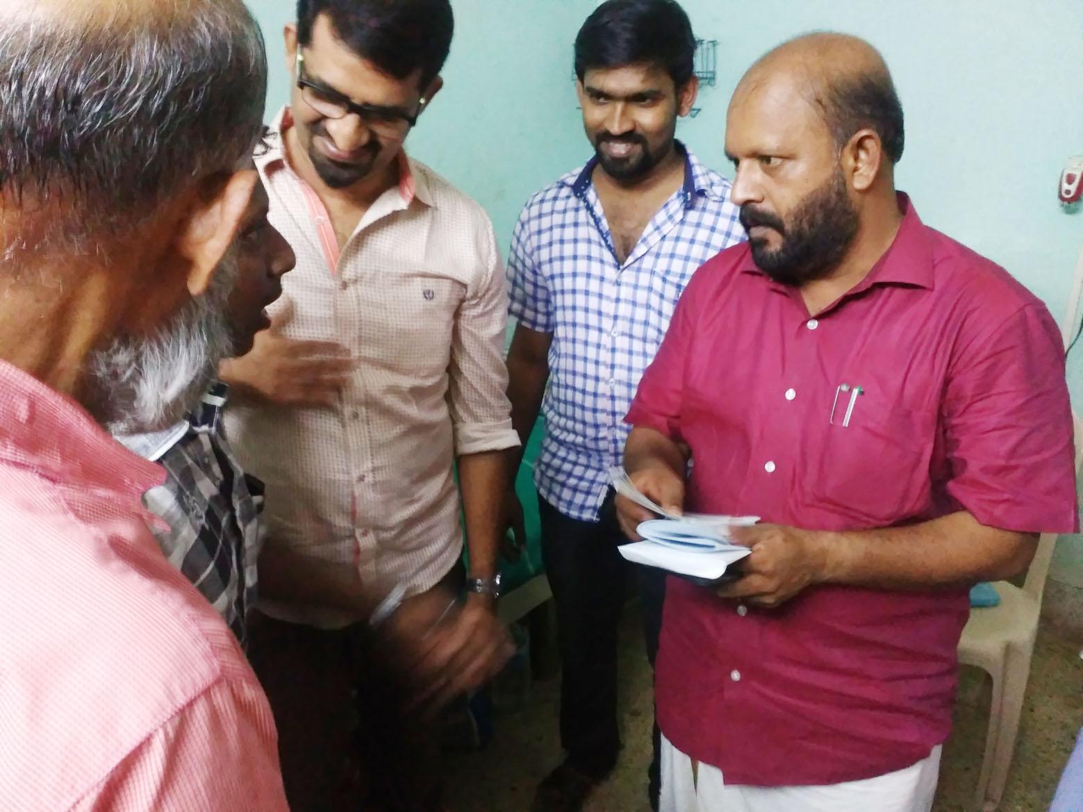 Visit by Kerala Minister VS Sunilkumar at Alpha Thrissur Hospice