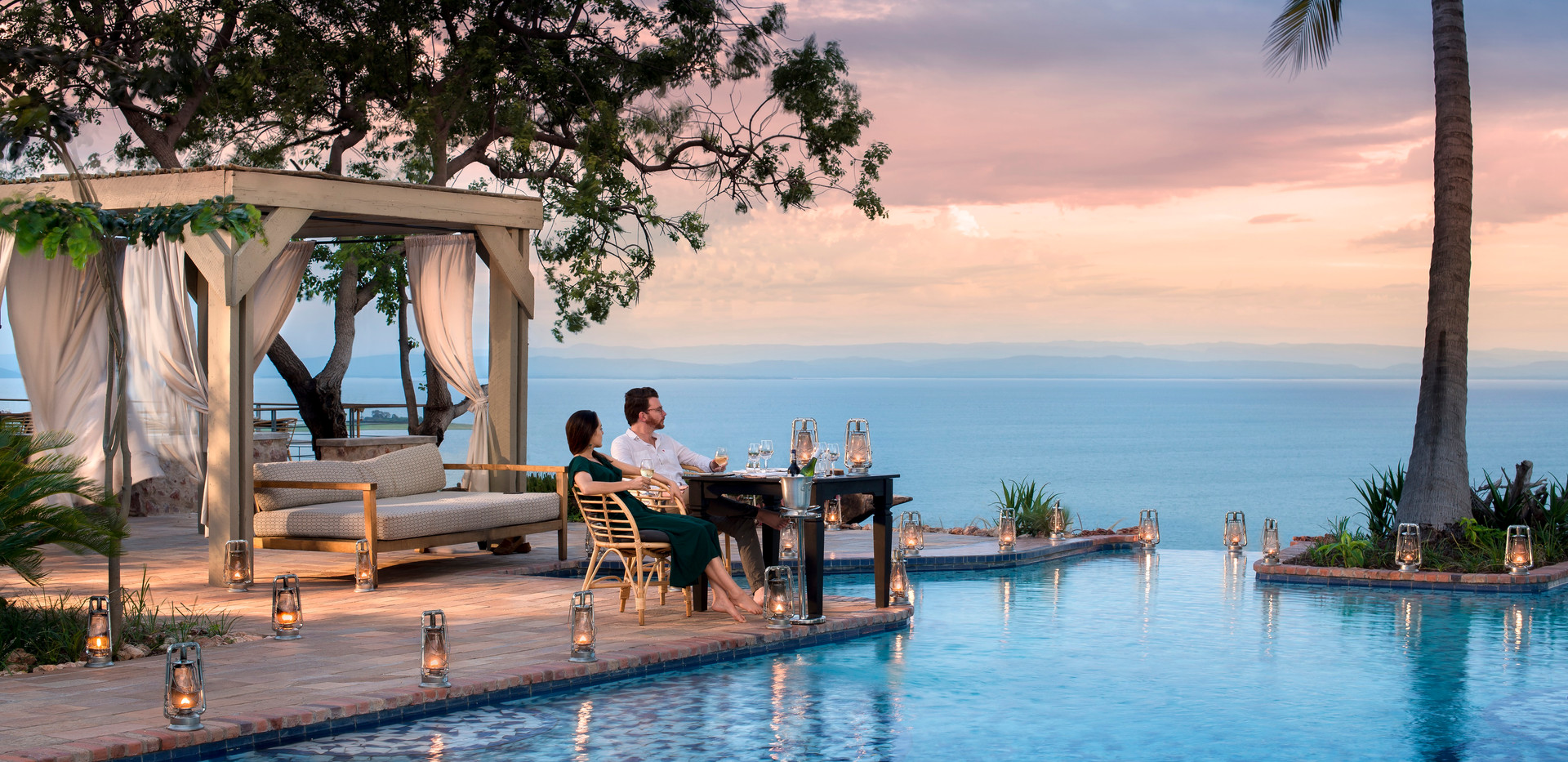 Honeymoon Sundowner at Bumi Hills