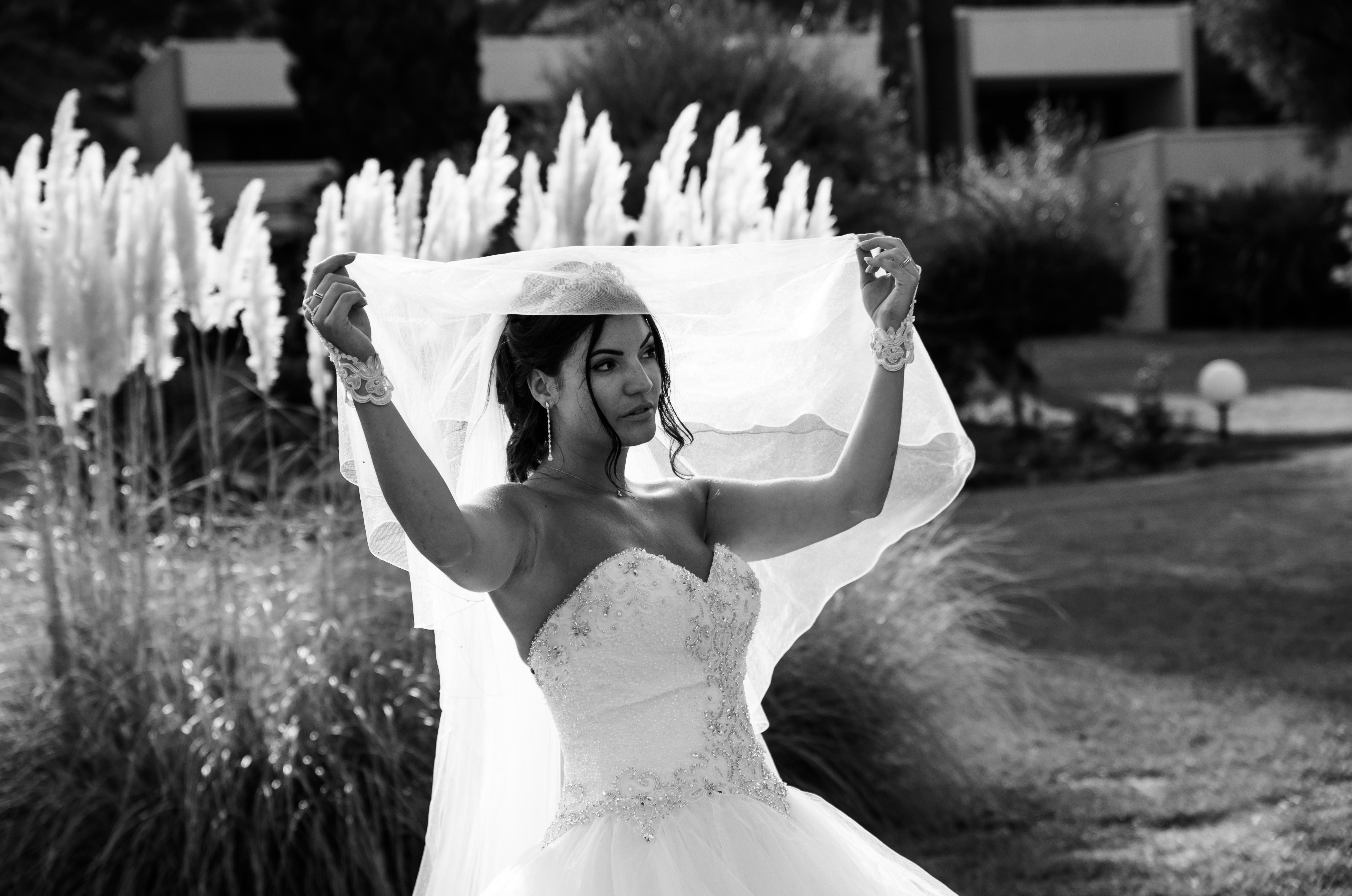 mariée contre jour