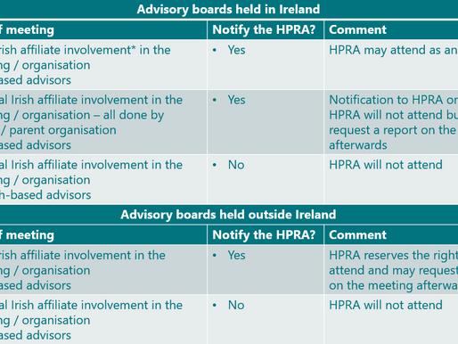 HPRA Compliance Programme on Advisory Boards