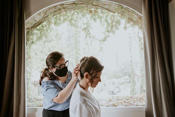 acconciatura sposa  monferrato