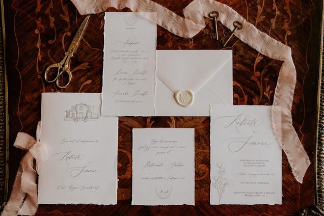 calligrafia matrimonio seta