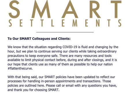 SMART Settlements COVID-19 Update