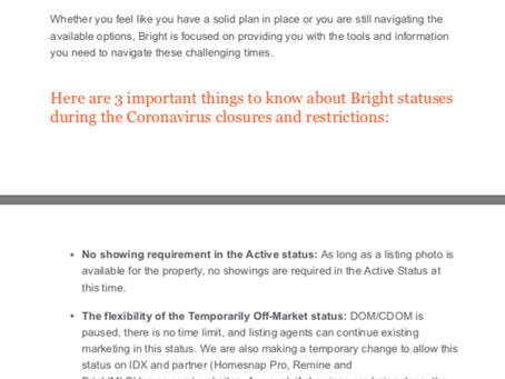 Bright MLS COVID-19 Update