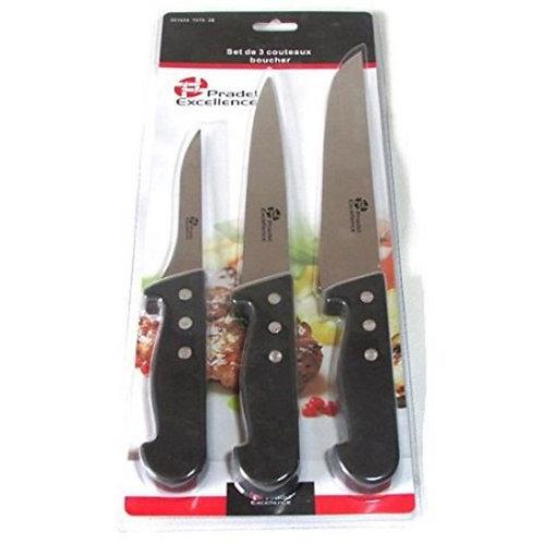 Lot de 3 couteaux de boucher