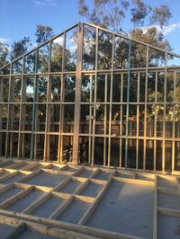 garage wall frame