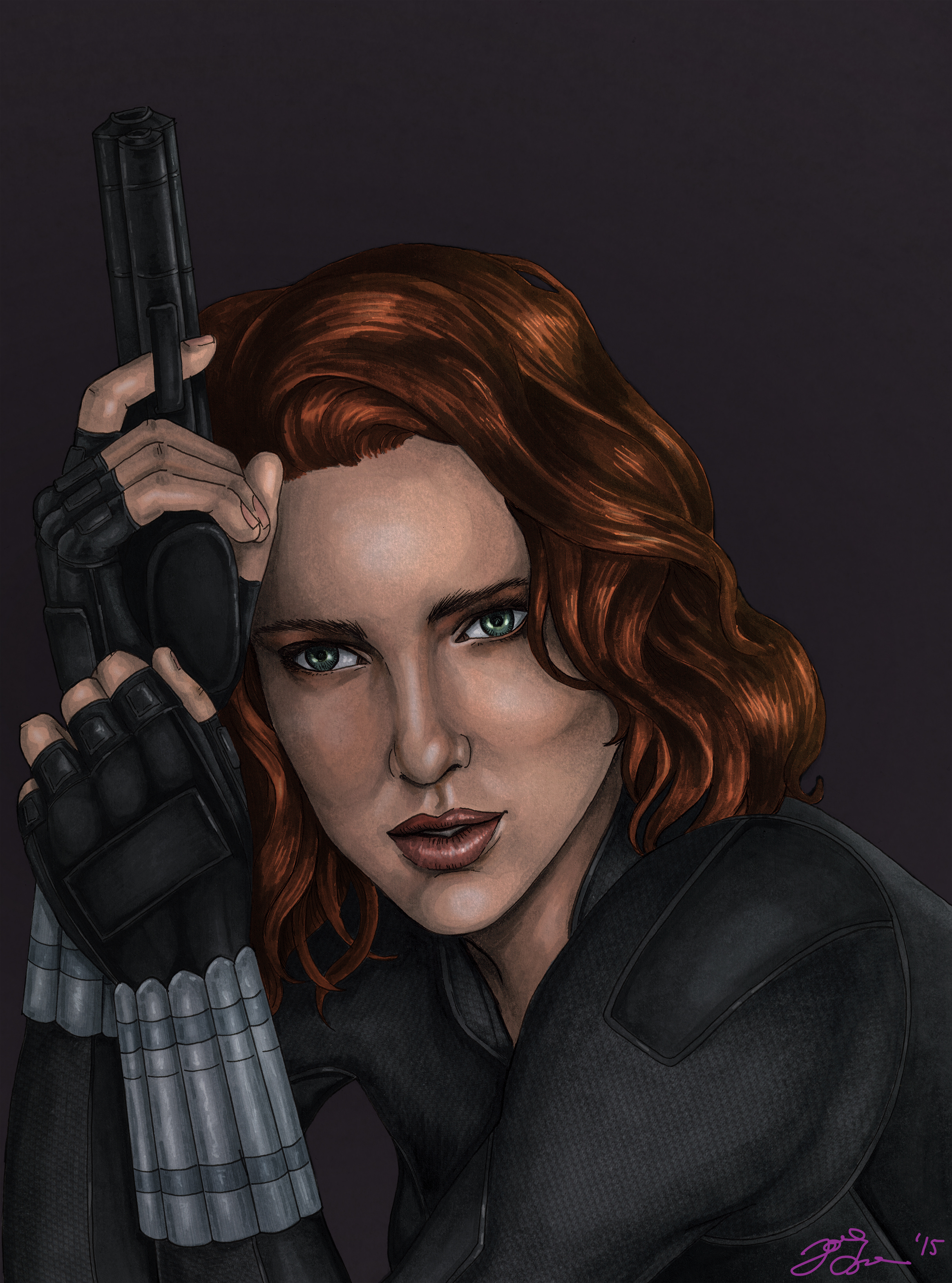 Black Widow - Colored