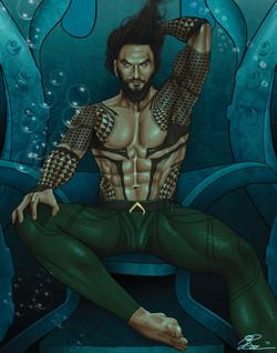 Aquaman On Throne