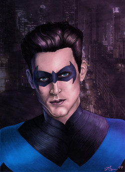 Nightwing with mask - Colored