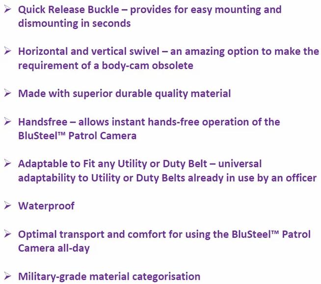 properties of BluSteel Belt