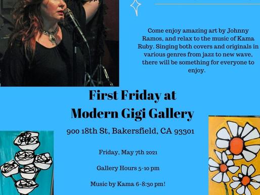 Kama Ruby appearance at Modern Gigi Art Gallery. May 9th, 2021