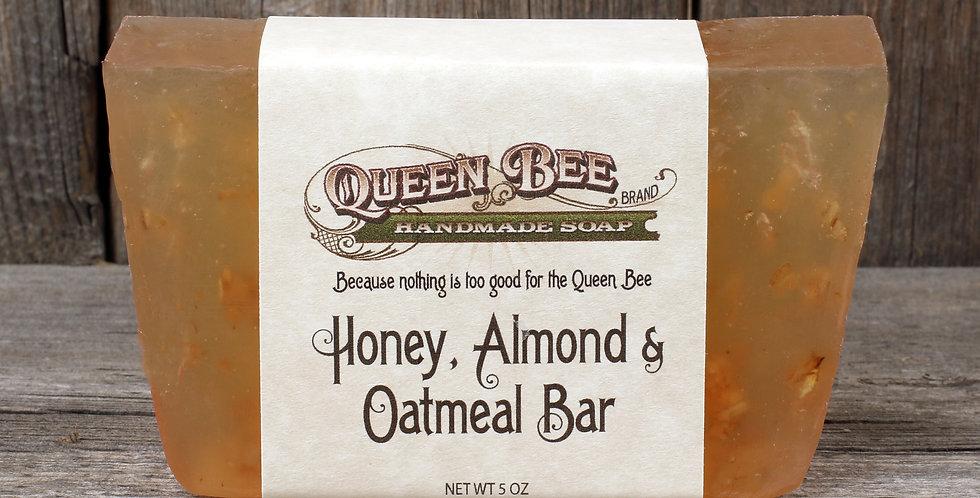 Honey, Almond & Oatmeal Bar Soap