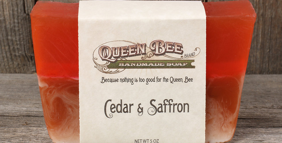 Cedar & Saffron Soap