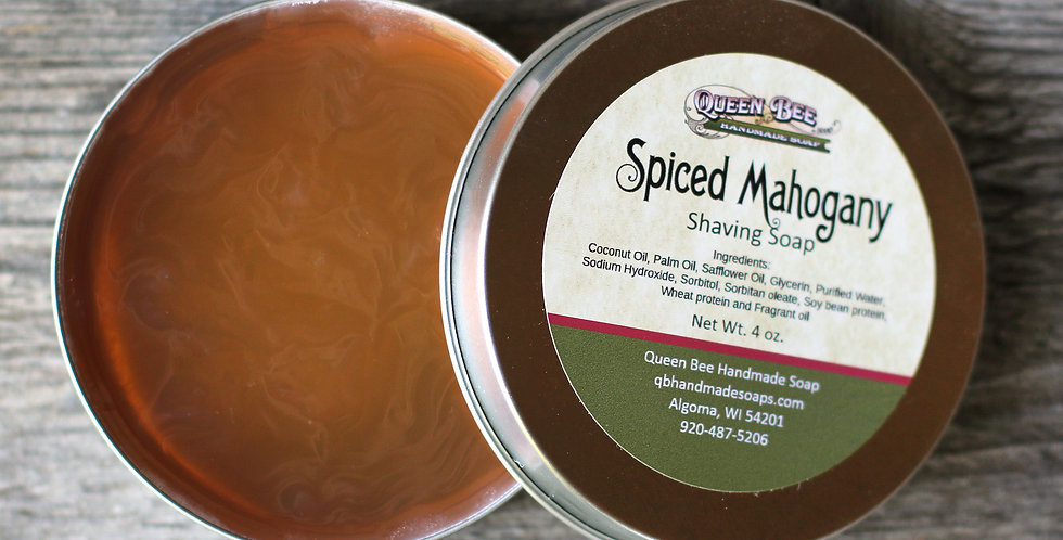 Spiced Mahogany Shaving Soap
