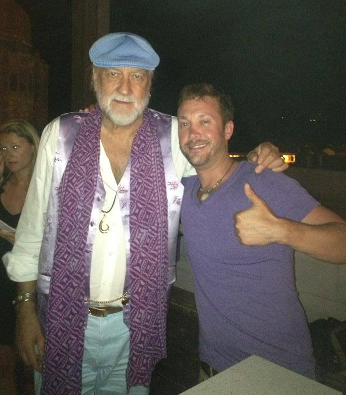 Josh Zuckerman with Fleetwood Mac