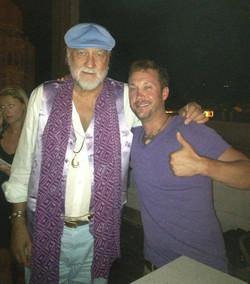 Josh Zuckerman with Fleetwood Mac